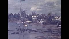 Vintage 16mm film, USA 1945, hurricane aftermath damaged homes #13 Arkistovideo