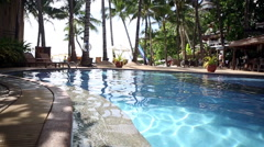 Pool in Tropical Beach Resort Paradise  - still video - stock footage