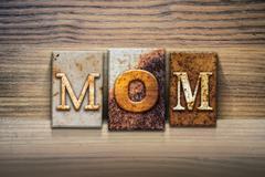 Mom Concept Letterpress Theme Stock Illustration