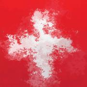 Swiss flag Stock Illustration