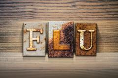 Flu Concept Letterpress Theme Stock Illustration