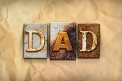 Stock Illustration of Dad Concept Rusted Metal Type