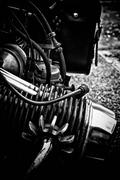 Vintage motorcycle engine detail Stock Photos