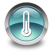 Icon, Button, Pictogram Temperature - stock illustration