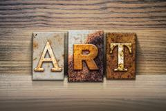 Art Concept Letterpress Theme - stock illustration