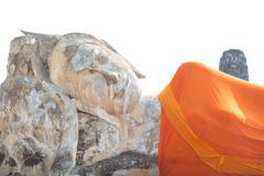 Big reclining Buddha statue, Ayuthaya Thailand Stock Photos