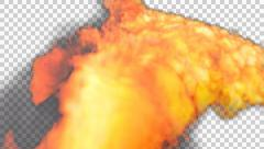 Animated fire-breathing dragon flames  Stock Footage