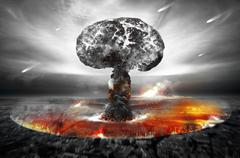 Atomic Bomb - stock illustration