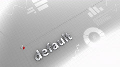 Default growing chart, statistic, data, performance. Stock Footage