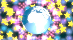 blurred glowing motion particles animation background - stock footage