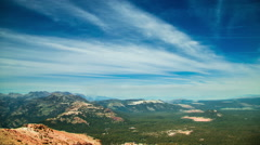 Time Lapse - Time Lapse - Beautiful Clouds Moving Over Mountain Ranges - stock footage