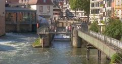 Stock Video Footage of Petite France is a historic quarter of the city of Strasbourg