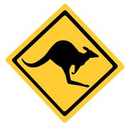 Australian Kangaroo Symbol Stock Illustration