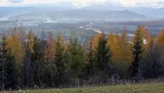 Autumn Premountain Plain Panorama - stock footage