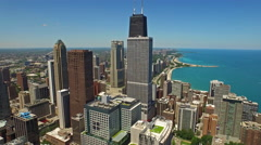 Aerial Illinois Chicago Arkistovideo