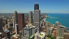 Aerial Illinois Chicago - stock footage