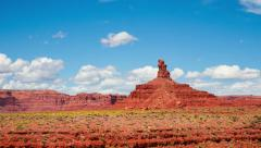 Time Lapse - Cloudscape Moving Over Monument Valley - stock footage
