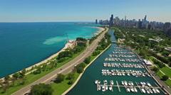 Aerial Illinois Chicago Stock Footage