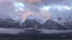 Grand Tetons in Fall Stock Footage