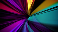 Ultra Modern Abstract Colorful Ribbon Loop Background Stock Footage