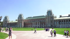 The Grand Palace (in 4k), Tsaritsyno park, Moscow, Russia. Stock Footage