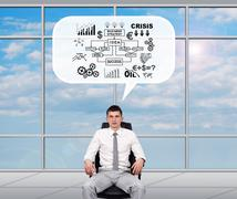 Broker dreaming about business plan - stock photo