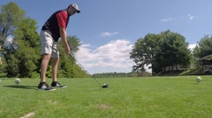 Golf swing 1 Stock Footage
