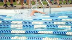 swim meet 1 - stock footage