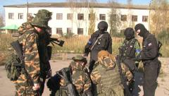 Soldiers. SWAT claims combat tactics. Stock Footage