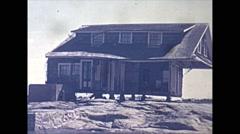 Vintage 16mm film, USA 1945, hurricane aftermath damaged homes #19 Stock Footage