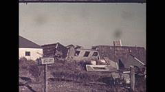 Vintage 16mm film, USA 1945, hurricane aftermath damaged homes #20 Arkistovideo