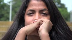Confused Woman, Confusion, Worry, Anxiety, Stress Stock Footage