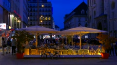 Café, Restaurant at Stephansplatz, Vienna, Austria Stock Footage