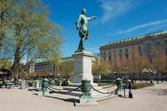 Statue of Charles XII (Karl XII) in Stockholm, Sweden. - stock photo
