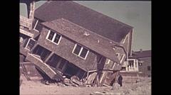 Vintage 16mm film, USA 1945, hurricane aftermath damaged homes #25 Arkistovideo