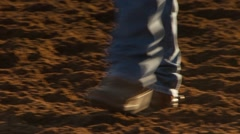 Cowboys walking in ground at Wasatch County Fair Stock Footage