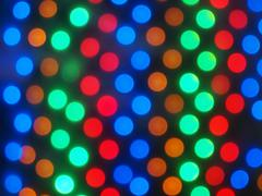 Defocused and blur image of multi-colored lights Stock Photos