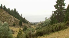 View of mountains in Spey creek ranch Stock Footage