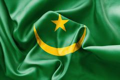 Mauritania Flag Stock Illustration