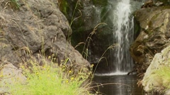 View of waterfall in in Spey creek ranch Stock Footage