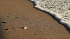 Beautiful waves in the sea - shadow - stock footage