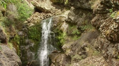 View of flowing water in Spey creek ranch Stock Footage
