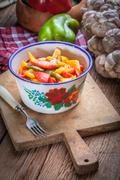 Color stewed peppers - stock photo