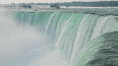 Niagara Falls Huge Waterfall Cascading Hydro-Electric Power Stock Video Stock Footage