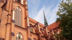 Cathedral Basilica in Bialystok Stock Footage