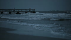 Dock before storm 2 Stock Footage