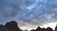 Clouds in desert area dry utah rocks Stock Footage