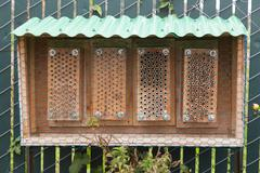 Garden bee hive - stock photo