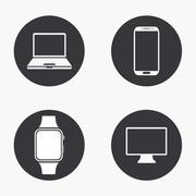 Vector modern gadget icons set Stock Illustration