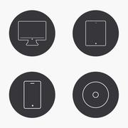 Stock Illustration of Vector modern gadget icons set